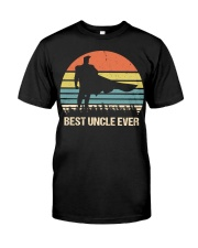 Vintage Best Uncle Ever Superhero Classic T-Shirt front