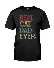 Vintage Best Cat Dad Ever Classic T-Shirt front