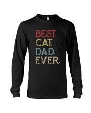 Vintage Best Cat Dad Ever Long Sleeve Tee thumbnail