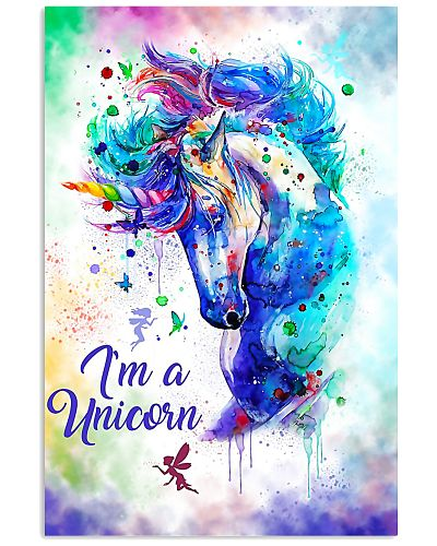 HORSE - I'M A UNICORN - WATERCOLOR