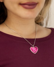 Half of My Heart is in the Army Metallic Heart Necklace aos-necklace-heart-metallic-lifestyle-1