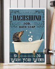 Bath Soap Company Dachshund 11x17 Poster lifestyle-poster-4