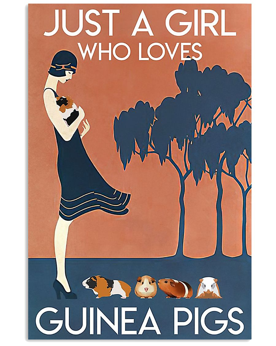 Just A Girl Who Loves Guinea Pigs 11x17 Poster