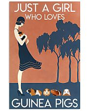 Just A Girl Who Loves Guinea Pigs 11x17 Poster front