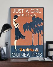 Just A Girl Who Loves Guinea Pigs 11x17 Poster lifestyle-poster-2