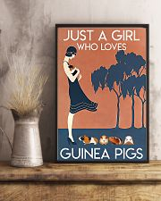 Just A Girl Who Loves Guinea Pigs 11x17 Poster lifestyle-poster-3