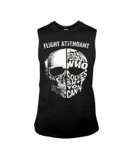 flight attendant a person who solve shit you can't Sleeveless Tee thumbnail