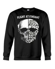 flight attendant a person who solve shit you can't Crewneck Sweatshirt thumbnail