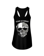 flight attendant a person who solve shit you can't Ladies Flowy Tank thumbnail