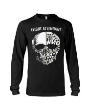 flight attendant a person who solve shit you can't Long Sleeve Tee thumbnail