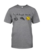 I'M A SINGLE WOMAN BASEBALL SHIRT Classic T-Shirt front