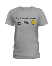 I'M A SINGLE WOMAN BASEBALL SHIRT Ladies T-Shirt thumbnail