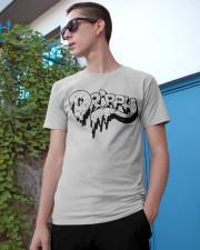 White Slimy Drippy Drop Classic T-Shirt apparel-classic-tshirt-lifestyle-17