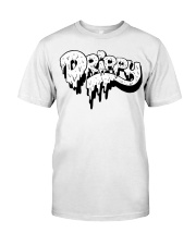 White Slimy Drippy Drop Classic T-Shirt front