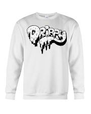 White Slimy Drippy Drop Crewneck Sweatshirt thumbnail