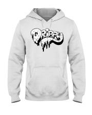 White Slimy Drippy Drop Hooded Sweatshirt thumbnail