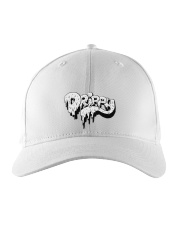 White Slimy Drippy Drop Embroidered Hat thumbnail