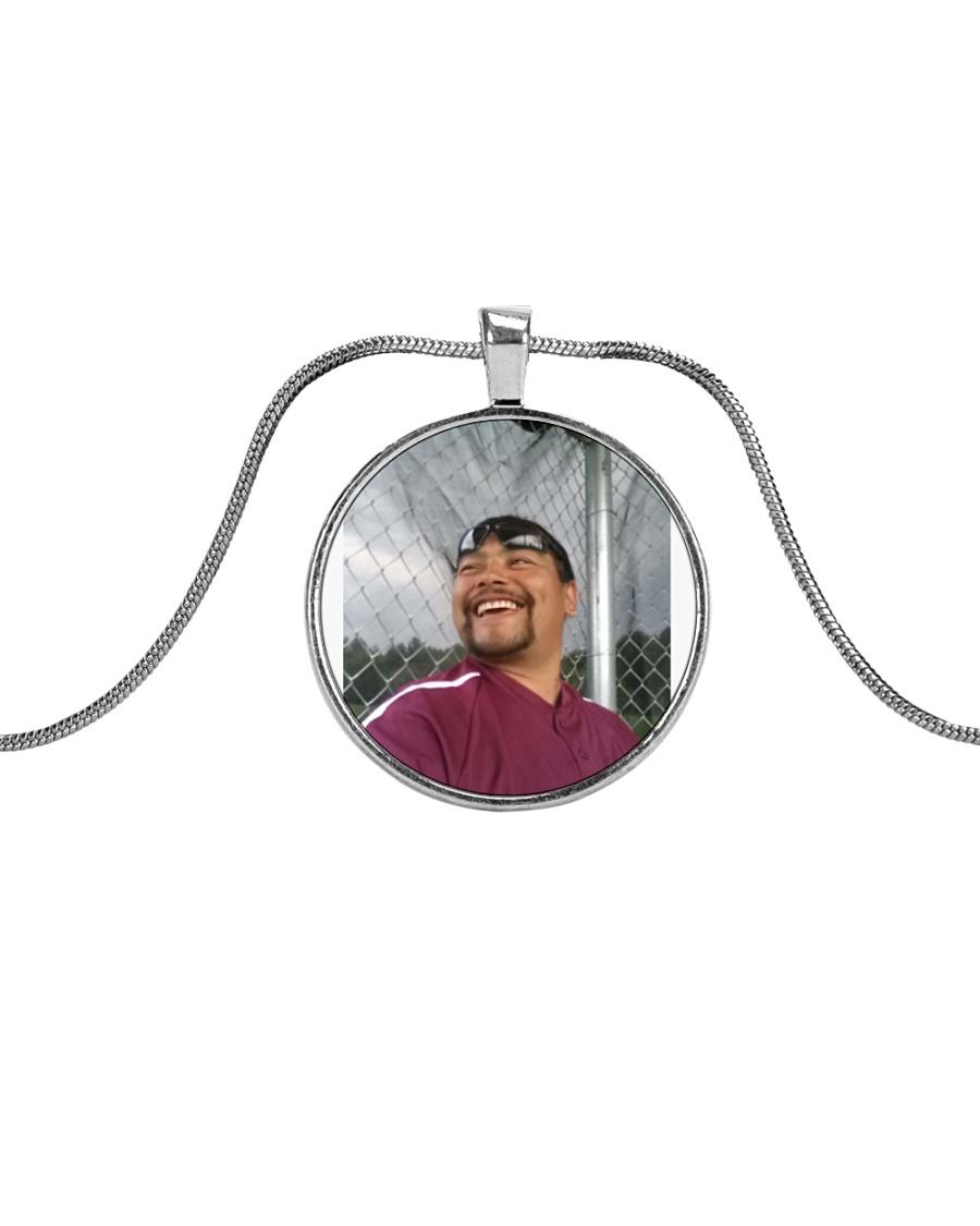 that smile Metallic Circle Necklace