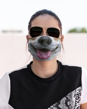 Corgi face Cloth face mask aos-face-mask-lifestyle-02