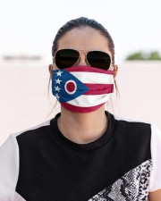 Ohio state flag face mask Cloth face mask aos-face-mask-lifestyle-02