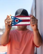 Ohio state flag face mask Cloth face mask aos-face-mask-lifestyle-05