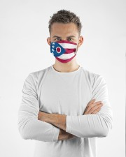 Ohio state flag face mask Cloth face mask aos-face-mask-lifestyle-14