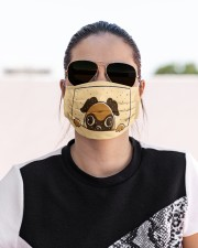 Peeking pug face mask Cloth face mask aos-face-mask-lifestyle-02