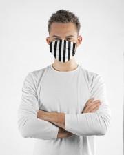 Referee pattern face mask Cloth face mask aos-face-mask-lifestyle-14