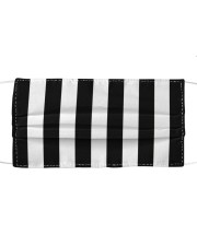 Referee pattern face mask Cloth face mask front