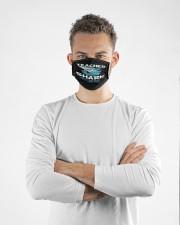 Teacher shark face mask Cloth face mask aos-face-mask-lifestyle-14