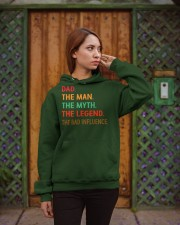 Dad The Man The Myth The Legend The Bad Influence Hooded Sweatshirt apparel-hooded-sweatshirt-lifestyle-02