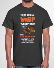 First Annual WKRP Turkey Drop Tshirt Classic T-Shirt garment-tshirt-unisex-front-03
