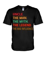 Uncle The Man The Myth The Legend V-Neck T-Shirt thumbnail