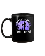 Underestimate Me That Be Fun Witch Halloween Gift Mug back