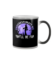 Underestimate Me That Be Fun Witch Halloween Gift Color Changing Mug thumbnail