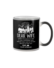 Camping Dear Wife Color Changing Mug thumbnail