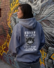 SORRY I'M LATE WOLF Hooded Sweatshirt lifestyle-unisex-hoodie-back-1