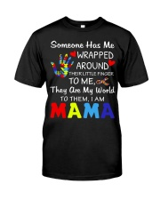 Autism Wrapped Around Their Little Finger Classic T-Shirt thumbnail