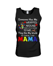 Autism Wrapped Around Their Little Finger Unisex Tank tile