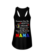Autism Wrapped Around Their Little Finger Ladies Flowy Tank tile