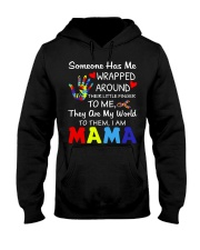 Autism Wrapped Around Their Little Finger Hooded Sweatshirt thumbnail
