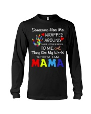 Autism Wrapped Around Their Little Finger Long Sleeve Tee thumbnail
