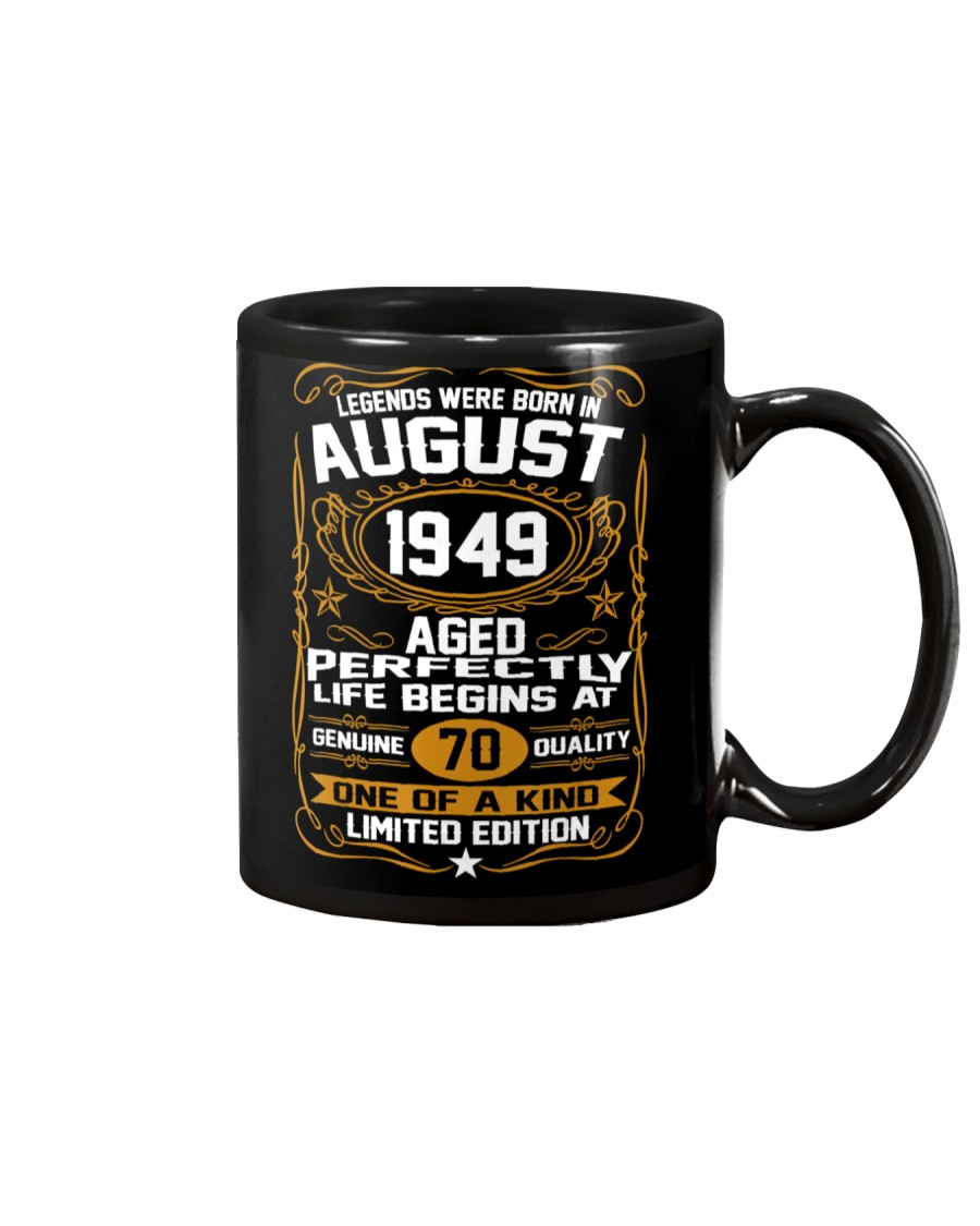 August 1949 70th Birthday Gift 70 Year Old Mug