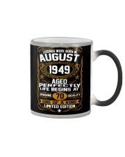 August 1949 70th Birthday Gift 70 Year Old Color Changing Mug thumbnail