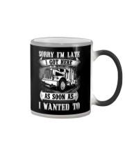 Trucker Sorry I'm late Color Changing Mug thumbnail