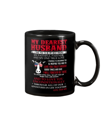 Faithful Partner True Love Husband Cow Mug