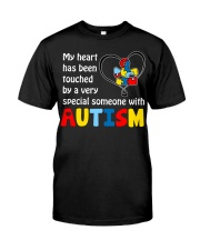 My heart touched by autism Classic T-Shirt thumbnail
