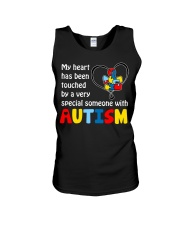 My heart touched by autism Unisex Tank thumbnail