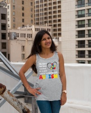 My heart touched by autism Ladies Flowy Tank lifestyle-bellaflowy-tank-front-3