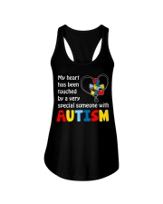 My heart touched by autism Ladies Flowy Tank thumbnail